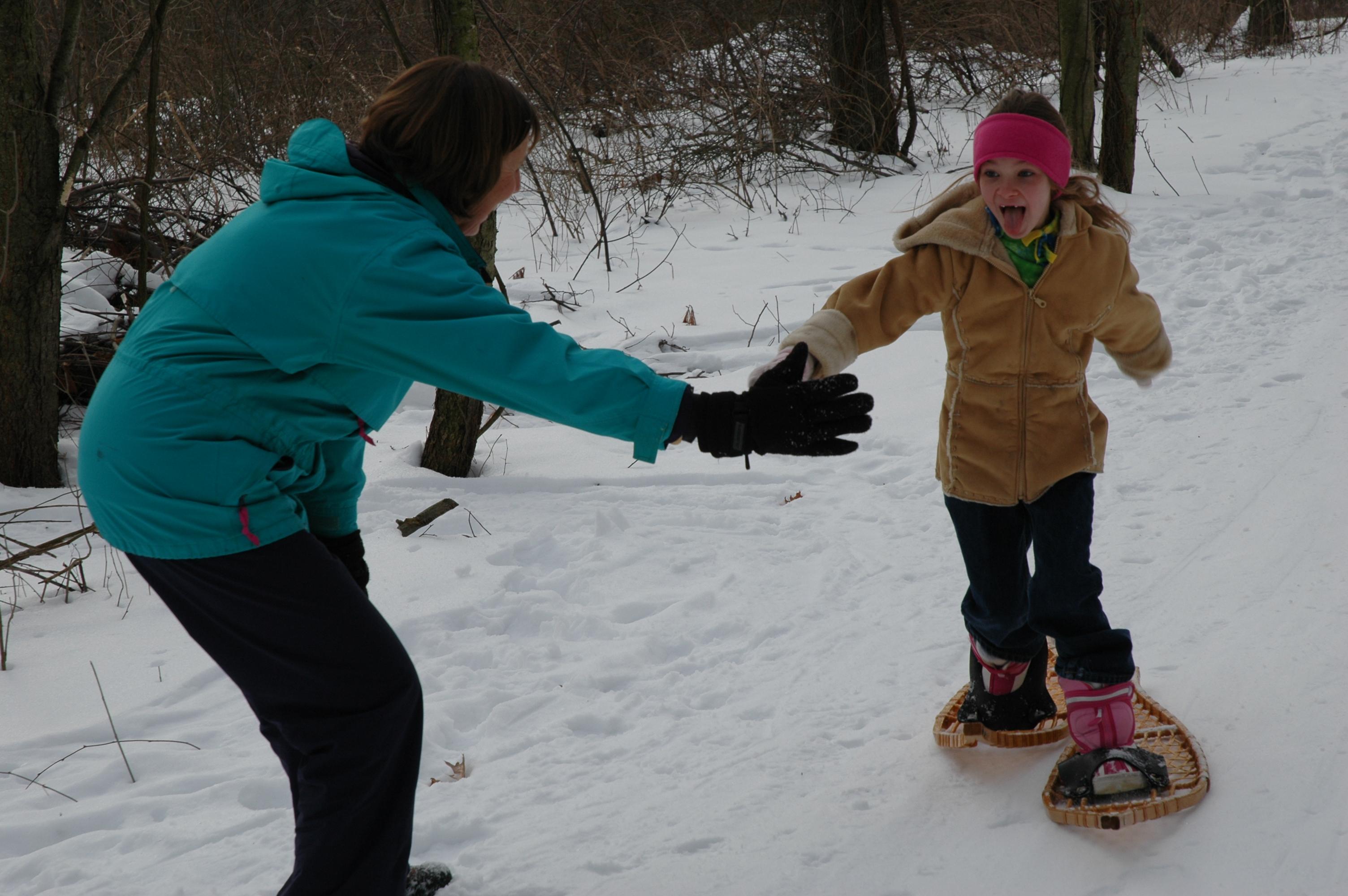 Kids Snowshoeing 3