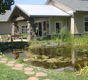 Building and pond 2